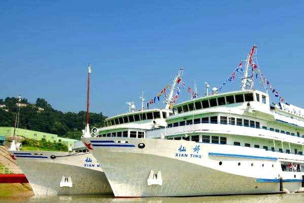 下水:重庆-万州-宜昌;执行船名:仙婷号、仙娜号
