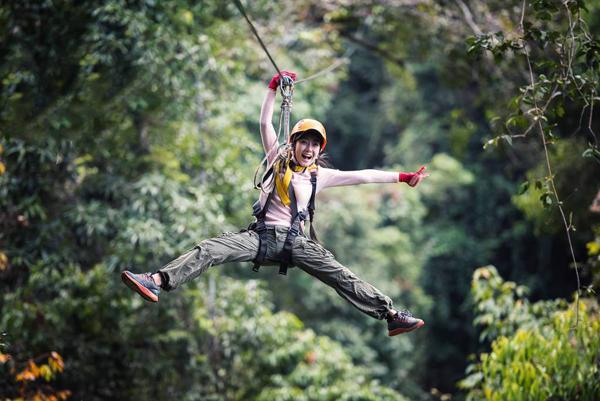 泰国丛林滑索探险素材001-锐景